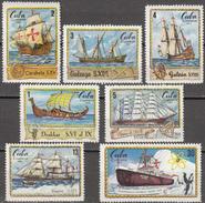 CUBA 1972, SHIPS, HISTORY Of SHIPPING, COMPLETE MNH SET, GOOD QUALITY, *** - Cuba