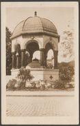 Memorial Fountain Of Kaiser Wilhelm II, Constantinople, C.1920s - K Ltd RP Postcard - Turkey