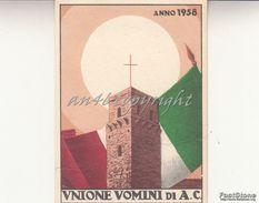 TESSERA_UNIONE UOMINI DI A.C.ANNO 1958 ( AZIONE CATTOLICA)_BUONO STATO DI CONSERVAZIONE_ORIGINALE 100%- - Pubblicitari