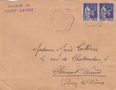 FRANCE - LETTRE CACHET HEXAGONAL SAINT-LAURE PUY DE DOME / 3 - Poststempel (Briefe)