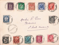 FRANCE FDC  Série Blasons N° 526 à 537  St Malo Rocabey 15 12 1940 - Maximumkarten