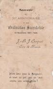 Souvenir 25e Anniversaire Ordination J-B.J.CROQUET ,1881-1906,Curé De MAULDE(Tournai,Frasnes,Leuze,BARRY-MAULDE) - Announcements
