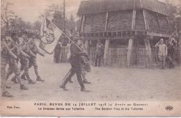 ALTE AK  SERBISCHE TRUPPEN Bei Feier 1918 In Paris - Frankreich / 1918 Beschrieben - Serbia