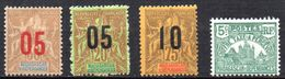 Col 4/ Madagascar    N° 112 à 114 + Taxe 10 Neuf X MH  Cote 15,00€ - Unused Stamps