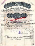 90- BELFORT- BELLE FACTURE MANUFACTURE IMPRESSIONS DE MEUBLES & INDIENNES-MANUFACTURE DE LA FORGE-CH. STEINER-1933 - Old Professions