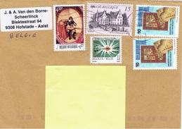 B+ Belgien 1976 1992 1993 Mi 1879 2497 2565 2581 Musikant, Beveren, Le Soir Auf Brief - Belgique