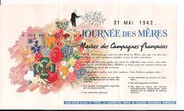 """""""fête Des Mères """" 1942 Plaquette Doriot Laval Vichy Collaboration Petain  WWII 39-45 1939-1945 2wk - 1939-45"""