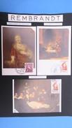 France 1957, 23 Documents Sur Rembrandt  Dont 6 Carte Maximum  (Pour Les Frais De Port  : 4 €) - Brieven En Documenten