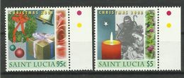 ST.LUCIA  2008  CHRISTMAS SET  MNH - St.Lucia (1979-...)
