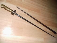 Baionette Lebel Mle 1886 Rosalie 1er Type Sans Quillon - Armes Blanches