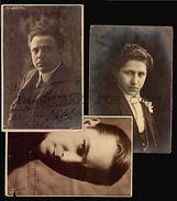 CALABRESI & OTHER ARTISTS 3 Photo Postcards Autographs Opera Stage Singer Music - Autographs