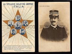 ITALY KING S. M. IL RE D' ITALIA VITTORIO EMANUELE 2 POSTCARD ONE REAL PHOTO WWI - Royal Families