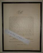 FAIRE-PART DECES 1875 De MAUDUIT DUCHESNE DESPATYS JOUVE BERGASSE Grane Drôme Généalogie - Décès