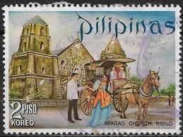 PHILIPPINES 1970 Tourism - 2p. - Calesa (horse-carriage) And Miagao Church, Iloilo FU - Philippines
