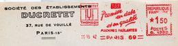"Diapason, Parole, ""Ducretet Thomson""  - EMA Havas G - Devant D'enveloppe   (S182) - Instrumentos De Música"