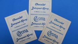 """Publicité Pour Le     Chocolat -  Delespaul-Havez   - """"Le Meilleur à La Tasse"""" -  Corona - """" Le Meilleur à Croquer """" - Otros"""