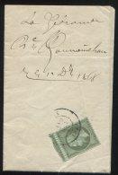 """N°19 Seul Sur Lettre De Bordeaux En Provenance Du Journal """"la Gironde"""" - 1862 Napoleon III"""