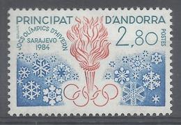 Andorra (French Adm.), 1984 Winter Olympics, Sarajevo, Yugoslavia , 1984, MNH VF - Unused Stamps