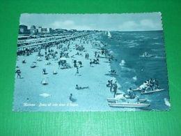 Cartolina Riccione - Sosta Al Sole Dopo Il Bagno 1956 - Rimini