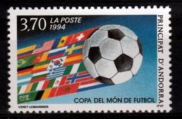 Andorra (French Adm.), FIFA World Cup '94, USA, Football, Soccer, 1994, MNH VF - French Andorra