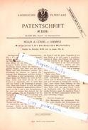 Original Patent - Müller & Gündel In Chemnitz , 1885 , Musterpresse Für Wirkstühle !!! - Historical Documents