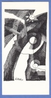 WEIHNACHTSBILLET Orig.Künstler Karte Mit Autogramm Von Bernd Valetti 2000 - Autogramme & Autographen