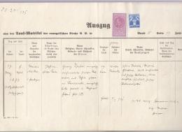ROMANIA - AUSZUG Aus Der TAUF-MATRIZEL D.e.Kirche 1939, Dokumentgröße 34 X 21 Cm, Dokument Gefaltet - Historische Dokumente