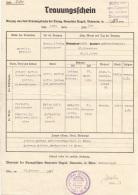 TRAUUNGSSCHEIN 1939 - Ausgestellt Vom Pfarramt Der Evangelischen Gemeinde Gumpendorf, Dokument Gefaltet, Größe ... - Historische Dokumente
