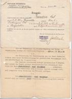 ZEUGNIS 1945 Heereswesen Mit Beiblatt, Dokument Gefaltet, 2 Seitig - Historische Dokumente