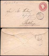 1865, Drei Kreuzer GSU Mit Klarem K2 SINGEN Nach Tuttlingen (Württemberg) - Baden