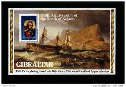 GIBRALTAR - 1980 ANNIVERSARY OF THE DEATH OF NELSON  MS MINT NH - Gibilterra