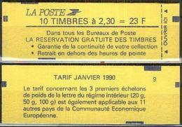 FRANKREICH 1990 MI-NR. 2751 A Markenheft Geschlossen ** MNH - Carnets
