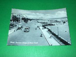 Cartolina Rimini - Panorama Spiaggia Da Piazza Tripoli 1961 - Rimini