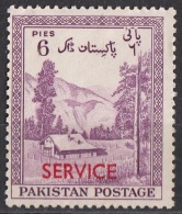 """O53 Pakistan 1957 Official Stamps Overprint Carmine """"Service"""" Kaghan Valley Nuovo - Pakistan"""