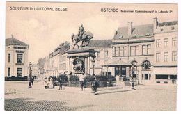 B-6372     OOSTENDE :  Monument Commemoratif De Leopold I - Oostende
