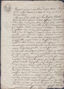 Manuscrit De 1808.Cuillé,Cavelier Et Lefrançois Ont Acquis Une Terre à Varaville Des Demoiselles Le Roi D'Hautemare.Caen - Manuscrits