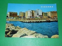 Cartolina Viserba - Alberghi E Spiaggia Visti Dal Mare 1970 - Rimini