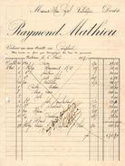 ANNEE 1917 NARBONNE Raymond MATHIEU FACTURE PUBLICITAIRE DOCUMENT COMMERCIAL VILLESEQUE Des Corbières - Levensmiddelen