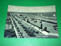 Cartolina Riccione - Lungomare 1955 - Rimini