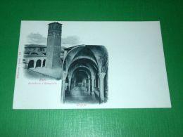Cartolina Rieti - Cattedrale E Campanile - Cripta 1900 Ca - Rieti