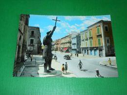 Cartolina Barletta - Corso Vittorio Emanuele E Statua Colosso Eraclio 1960 Ca - Bari