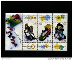 IRELAND/EIRE - 2002  YEAR OF THE HORSE  MS MINT NH - Blocchi & Foglietti