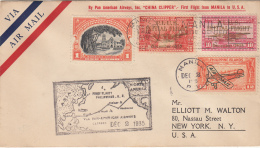 Philippines FDC 1935 Scott #C52-#C53 First Flight 'China Clipper' Manila To USA - Filipinas