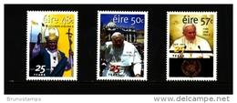 IRELAND/EIRE - 2003 ANNIVERSARY OF THE ELECTION OF POPE JOHN PAUL II  SET  MINT NH - 1949-... Repubblica D'Irlanda