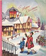 BIGLIETTO DI AUGURI DI NATALE - LETTERA DI NATALE - INGLESE DEL 1956 - Noël