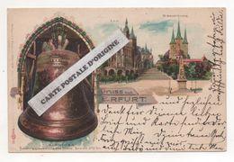 ALLEMAGNE - GRUSS AUS ERFURT - GLORIOSA - LITHOGRAPHIE - PIONNIERE - Erfurt
