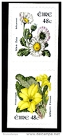 IRELAND/EIRE - 2004 48c. FLOWERS COIL PAIR SELF-ADHESIVE  PHOSPHOR FRAME MINT NH - Nuovi