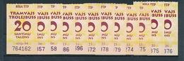 Latvia Riga Tram & Trolley One Way Tickets Lot - 12 Pcs. 20 Santīmu - Tram