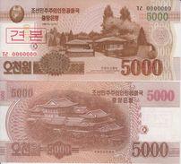 KOREA 5000 Won 2013 P 67 SPECIMEN UNC - Korea, North