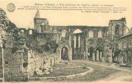 Abbaye D'AULNE - Vue Intérieur De L'église, Choeur Et Transept. - Thuin